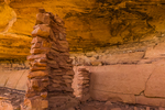Ruins of masonry building created by Ancestral Puebloan people within Salt Creek Canyon in The Needles District of Canyonlands National Park, Utah, USA