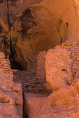 Ruins of a group of masonry structures made by the Ancestral Puebloan people some 700 years ago within Salt Creek Canyon in The Needles District of Canyonlands National Park, Utah, USA