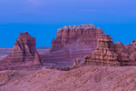 Goblins or hoodoos eroded from Entrada Sandstone in Goblin Valley State Park, photographed at twilight,  Utah, USA