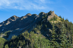 Mountains above Grand Valley in Olympic National Park, Washington State, USA
