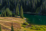 Moose Lake in Grand Valley in Olympic National Park, Washington State, USA