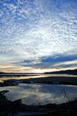 Sunset over Hood Canal estuary at Theler Wetland Trails, Belfair, Washington, USA, April, 2009_WA_2352