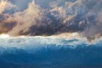 Storm clouds over the Sierra Nevada Mountains and Owens Valley, viewed from the Bristlecone Pine National Scenic Byway in the Ancient Bristlecone Pine Forest in the White Mountains; Inyo National Forest, California, Bristlecone_Pine_Forest-55
