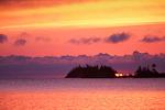 Vivid sunrise from Daisy Farm with over Lake Superior, Isle Royale National Park, Michigan, USA, 33,258