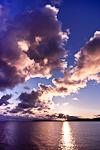 Sunrise clouds over Lake Superior from Copper Harbor, Upper Peninsula, Michigan, USA, 33,263