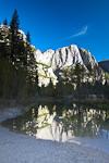 Yosemite Falls on Yosemite Creek, the highest waterfall in North America at 2,420', reflected in the Merced River in Yosemite Valley, Yosemite National Park, California, USA, Yosemite_Valley-56-8HDR