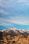 The Sierra Nevada Mountains, including Lone Pine Peak, with the Alabama Hills in the foregound, Alabama Hills Recreation Area near Lone Pine, California, USA, Alabama_Hills_BLM-104