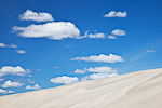 Cumulus clouds over and Dunes in the Wahluke Unit of the Hanford Reach National Monument along the Columbia River, Washington State, USA, Hanford_Reach-54