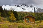 Nub Cabin, one of the cabins of Mount Assiniboine Lodge; Mount Assiniboine Provincial Park, British Columbia, Canada, Mount_Assiniboine_Park-138