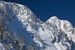Mt. Herman towers above the Mt. Baker Ski Area and has at least one really steep snowboard track, North Cascade Mountains, Mt. Baker-Snoqualmie National Forest, Washington, USA, Artist_Point_Winter-3