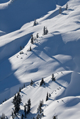 Snowy high country landscape viewed from Artist Point, near the Mt. Baker Ski Area, Mt. Baker-Snoqualmie National Forest, North Cascade Mountains, Washington State, USA,  Artist_Point_Winter-147