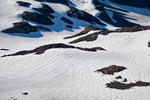 Meltwater channels atop McCall Glacier in the Goat Rocks Wilderness, viewed from the Pacific Crest Trail, Gifford Pinchot National Forest, Cascade Mountains, Washington State, USA, September, Goat_Rocks-18