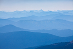 Cascade ridges cloaked in the smoke from a forest fire, viewed from the Pacific Crest Trail in the Goat Rocks Wilderness, Gifford Pinchot National Forest, Cascade Mountains, Washington State, USA, September, Goat_Rocks-569
