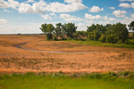 Beautiful landscape in western North Dakota in late summer, viewed from the Amtrak Empire Builder, USA, Empire_Builder-145