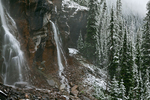 Seven Veils Falls and fresh early autumn snow in Yoho National Park, British Columbia, Canada, Yoho_National_Park-187