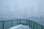 Ferry from Bremerton approaching Seattle during a heavy snowstorm, Seattle, Washington State, USA, Seattle_Snowfall-11