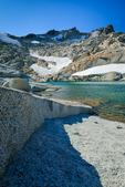 Wind-rippled Lake Olrun in the Upper Enchantments, Cascade Range, Okanogan-Wenatchee National Forest, Washington State, USA