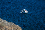 Commercial scuba diver entering the Pacific Ocean near East Anacapa Island, Channel Islands National Park, Callifornia, USA [no model or property releases; available for editorial licensing only]