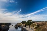Dramatic sky above Mendocino Headlands State Park, Mendocino, California, USA