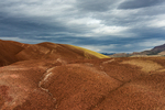 Formations made of Montmorillonite Clay along the Painted Cove Trail in the Painted Hills Unit of John Day Fossil Beds National Monument, located near Mitchell, Oregon, USA