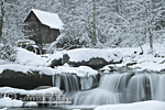 67395-02615 Glade Creek Grist Mill in winter Babcock State Park   WV
