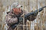 62532-002.18 Duck hunter in flooded cornfield  Morgan Co.  AL