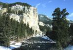 65195-036.11 Gallatin river in winter near Big Sky  MT