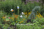63821-23412 Flower garden with birdhouses Marion Co., IL (PR)