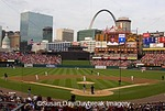 65012-098.10 Busch Stadium and downtown with Arch Jefferson Nat'l Memorial Expansion, St Louis  MO
