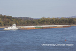 65095-02203 Barge (Dan Macmillan) going up Mississippi River near other barges at Cape Girardeau, MO