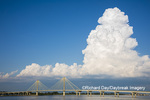 63895-15212 Clark Bridge over Mississippi River and thunderstorm (Cumulonimbus Cloud) Alton, IL
