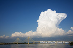 63895-15217 Clark Bridge over Mississippi River and thunderstorm (Cumulonimbus Cloud) Alton, IL
