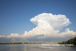 63895-15301 Clark Bridge over Mississippi River and thunderstorm (Cumulonimbus Cloud) Alton, IL