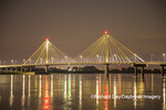 63895-15413 Clark Bridge at night over Mississippi River Alton, IL