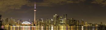 60912-00319 Toronto skyline at night from Toronto Island Park Toronto, Ontario Canada