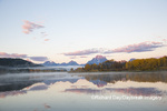67545-09216 Sunrise at Oxbow Bend in fall; Grand Teton National Park; WY