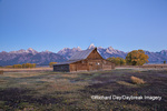 67545-09411 Sunrise at T.A. Moulton Barn in fall, Grand Teton National Park, WY
