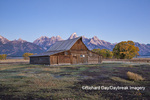 67545-09413 Sunrise at T.A. Moulton Barn in fall, Grand Teton National Park, WY