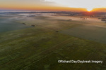 63893-03606 Sunrise over prairie with fog aerial view Marion Co. IL