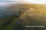 63893-03704 Sunrise and fog aerial view Marion Co. IL