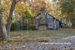 63895-16504 Cabin at Log Cabin Village in fall Kinmundy IL