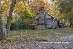 63895-16505 Cabin at Log Cabin Village in fall Kinmundy IL