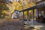 63895-16510 Cabin at Log Cabin Village in fall Kinmundy IL