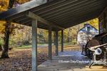 63895-16511 Cabin at Log Cabin Village in fall Kinmundy IL