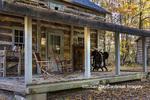63895-16513 Cabin at Log Cabin Village in fall Kinmundy IL