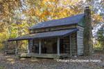 63895-16601 Cabin at Log Cabin Village in fall Kinmundy IL