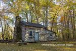 63895-16602 Cabin at Log Cabin Village in fall Kinmundy IL