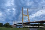 65095-02815 Bill Emerson Memorial Bridge at dusk-night over Mississippi River Cape Girardeau  MO