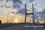 65095-02902 Bill Emerson Memorial Bridge at sunrise over Mississippi River Cape Girardeau  MO