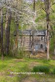 63895-15808 63895-158.02 Cabin at Log Cabin Village in spring Kinmundy IL